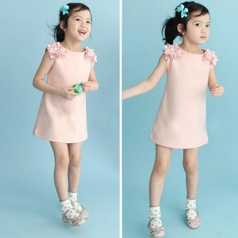 Girls Summer Dress Casual Dresses Kids Clothing Children Clothing Flower Sleeveless Cotton Girls' Dresses for 2-8Y Kids Wear 3
