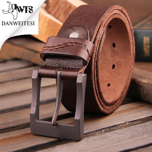 [DWTS]2016 real cow genuine leather men belt luxury buckle belts for men strap male pin buckle masculino cinturones hombre