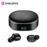 SANLEPUS TWS 5.0 Mini Bluetooth Earphones Wireless Sports Headphones 3D Stereo Headset Noise Cancelling Earbuds With Microphone