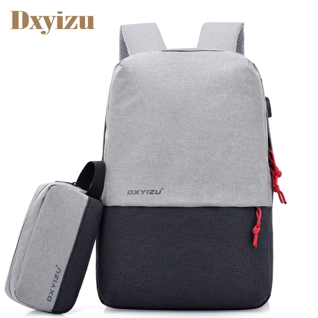 bc259ff2fb New Men s USB Charging Backpack Laptop Bags Students Women s School Bag For  Boys Leisure Travel Large