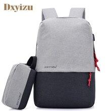 New Men's USB Charging Backpack Laptop Bags Students Women's School Bag For Boys Leisure Travel Large Capacity Unisex Backpacks
