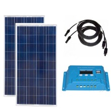 Pannello Solare 12v 150w 2PCs Solar Panels 300w Charge Controller 12v/24v 10A Battery Charger RV  Motorhome Camp