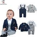 Hot Moda Bebê Conjuntos de Roupas de Inverno Bebê Recém-nascido Bebes Romper Outwear Manga Longa Casuais 2 pcs Terno Para Meninos Da Criança traje