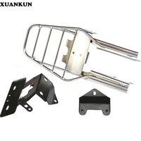 XUANKUN Small Monkey Motorcycle Rear Rack Motorcycle Modified Shelf Tail Light Rack