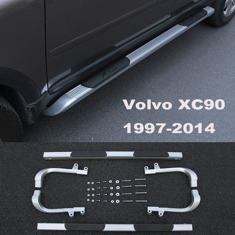 Pour Volvo XC90 1997-2014 Auto marchepieds Auto côté marchepied pédales haute qualité tout nouveau modèles originaux Nerf Bars