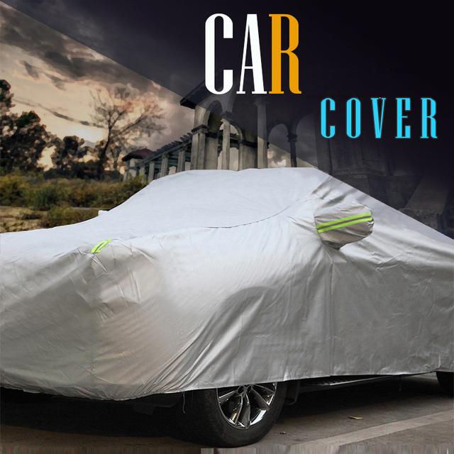 Cubierta del coche Auto Anti ultravioleta rasguño nieve helada sol resistente a la lluvia cubierta a prueba de polvo impermeable Universal
