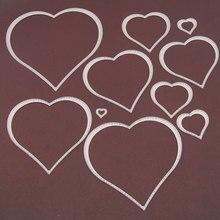 10Pcs Love Heart Metal Cutting Dies for DIY Scrapbooking Photo Album Embossing Folder Maker Paper Card Template Stencils Craft
