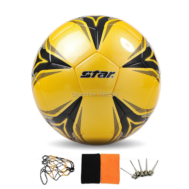 free shipping football No 5 high quality yellow color model 405