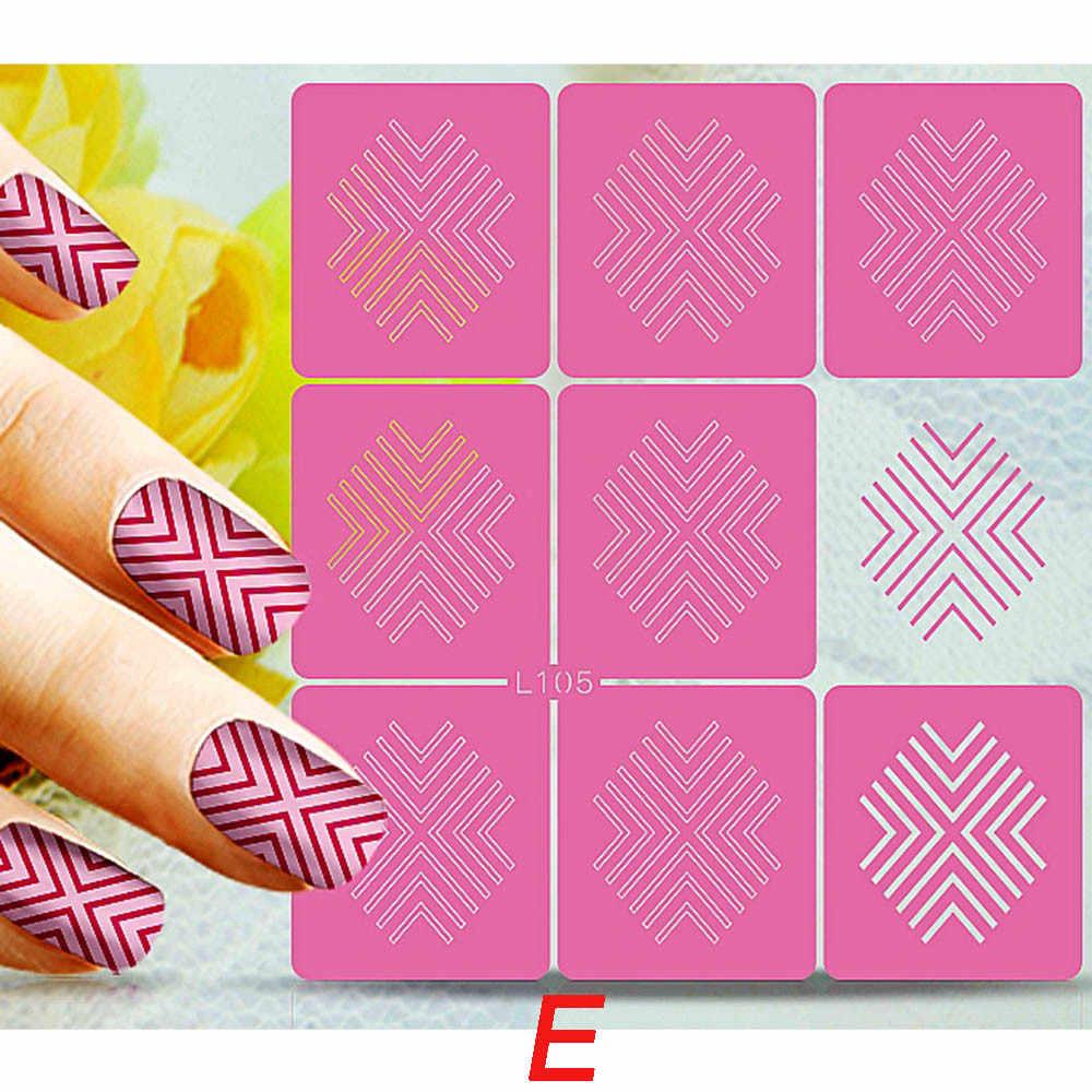 ROSALIND Мода Сердце-образный дизайн ногтей плесень 3D Силиконовые ногти полые штамповки ногтей шаблон DIY маникюр