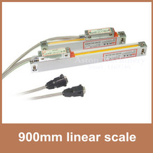 "Envío de la Alta Precisión escala lineal 0.005mm/0.0002 ""5 V TTL 900mm vidrio escala codificador lineal para CNC torno aburrido"