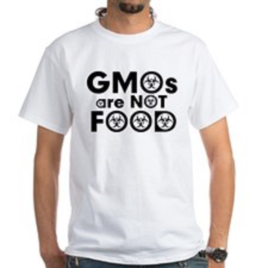 GMOs Are NOT Food T Shirt Anti GMO Monsanto Organic Vegan Vegetarian Activist T-Shirt for Man Hipster O-Neck Causal Cool Tops