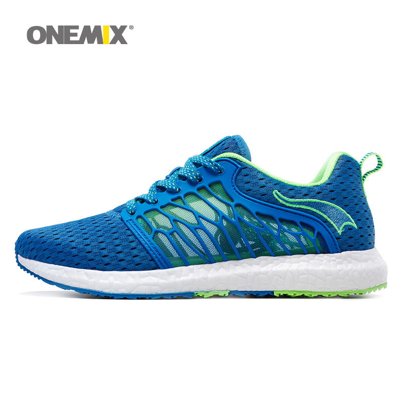 2017 ONEMIX New Unisex Men's &women's lace-up Sport shoes  Breathable Mesh  Athletic Shoes Light Outdoor Running Shoes kelme 2016 new children sport running shoes football boots synthetic leather broken nail kids skid wearable shoes breathable 49