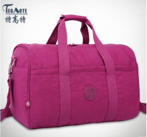TEGAOTE 2017 Nylon Waterproof Women Travel Bags Large Capacity Ladies Luggage Travel Duffle Bags Travel Handbags Baby bag 282 tegaote newest women travel bags large capacity duffle luggage big casual tote bag nylon waterproof bolsas female handbags