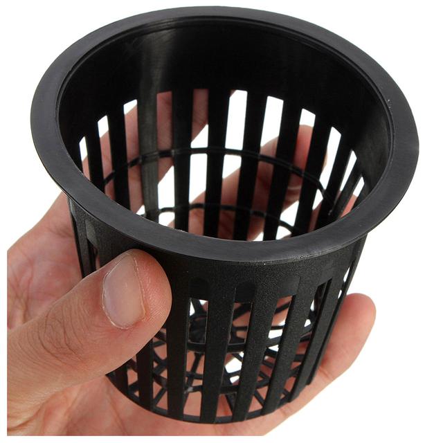 10pcs 3 inch Heavy Duty Mesh Pot Net Cup Basket Hydroponic Aeroponic Planting Grow Clone