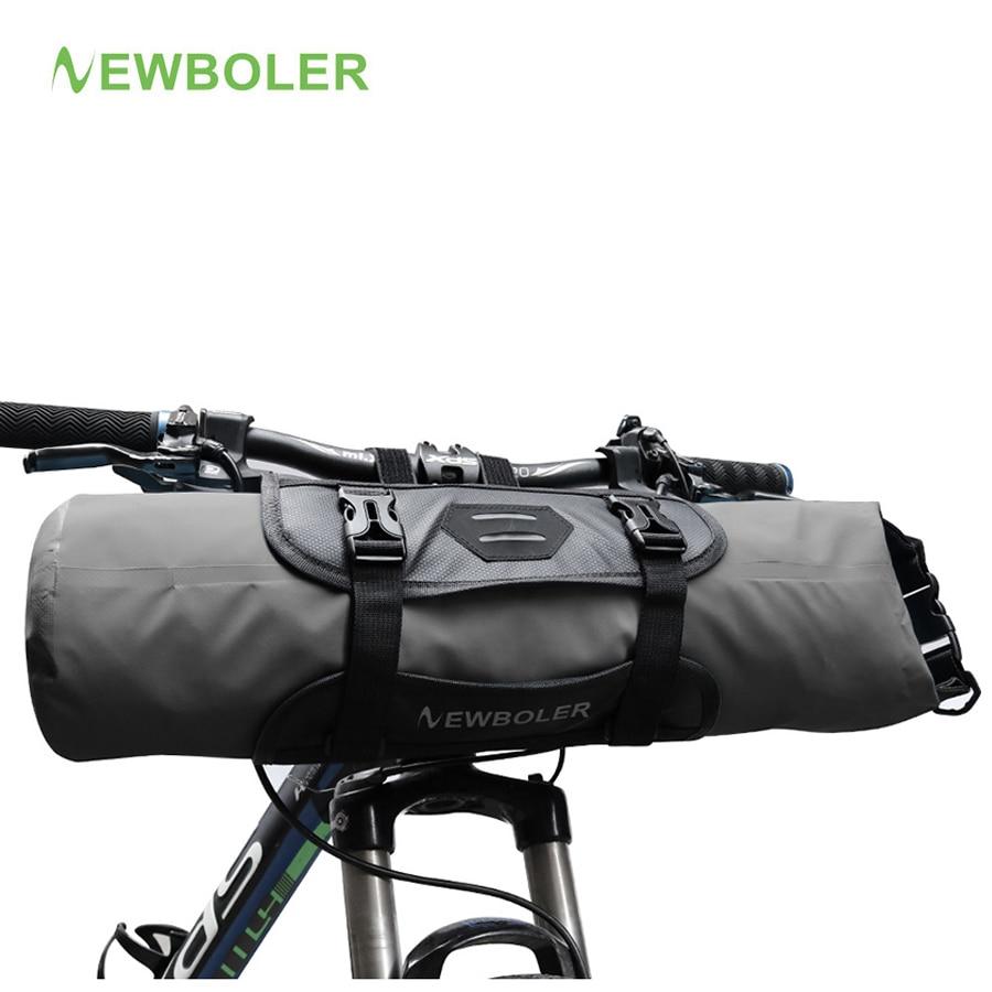 2c43b1a2724 NEWBOLER Bike Voor Tube Bag Waterdichte Fietsstuur Mand Pack Fietsen  Voorframe Pannier Fiets Accessoires