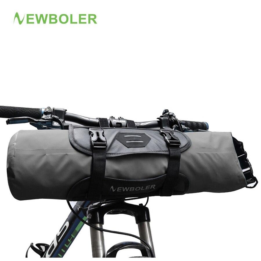 NEWBOLER Bike Vorne Rohr Tasche Wasserdichte Fahrrad Lenker Korb Pack Radfahren Front Rahmen Pannier Fahrrad Zubehör