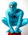 Cosplay Blue Lycra/Spandex Leotard Spiderman Hero Zentai Costume For Kids