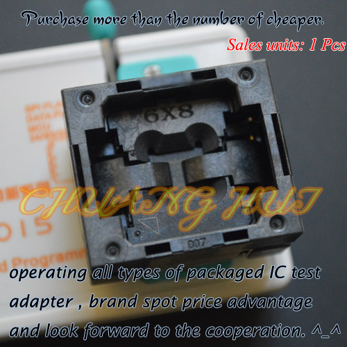 BGA24 to DIP8 Adapter TFBGA24 Programmer Adapter for SPI FLASH size=6x8mm Pin sorting=4x6 Pitch=1.0mm program ch2015 spi flash high speed programmer qfn8 to dip8 adapter 5x6mm usb spi flash eeprom programmer