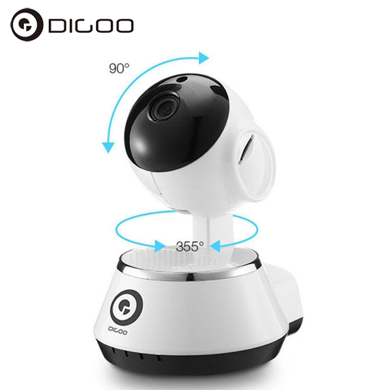 Digoo BB-M1 Wireless WiFi USB Baby Monitor Alarm Home Security IP Camera 64G TF HD 720P Audio Netip Protection Wifi Camera 3.6mm digoo dg bb 13 mw 9 99ft 3 meter long micro usb durable charging power cable line for ip camera device