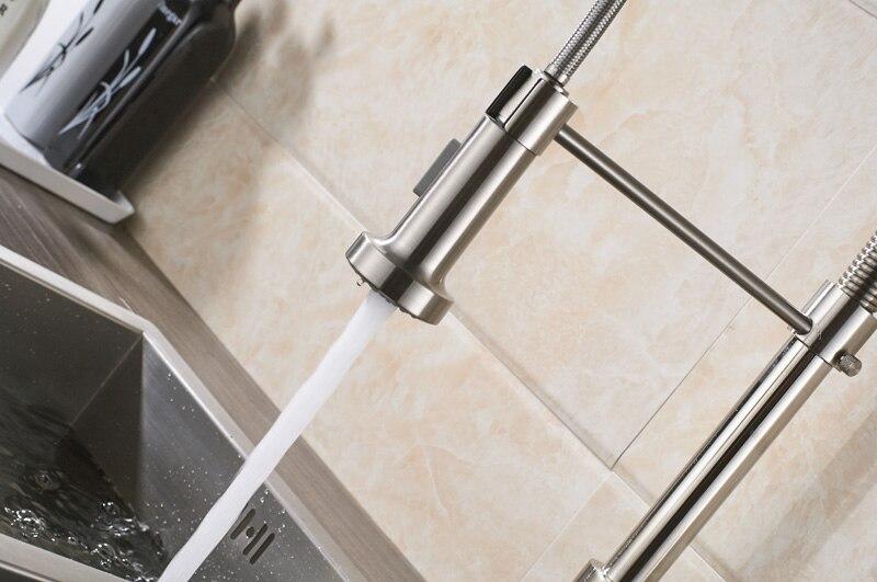 Chrome Pull Down Küche Waschbecken Mischbatterie Deck Montiert ...