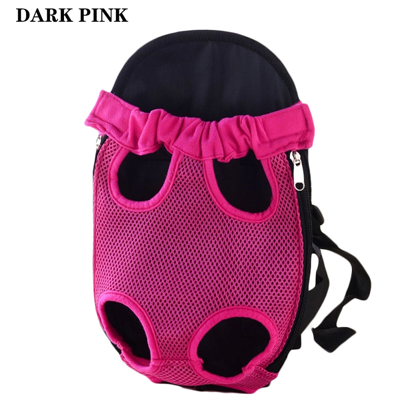 Pet Carrier Dog Front Chest Backpack Five Holes Backpack Dog Outdoor Carrier Tote Bag Sling Holder Mesh Cat Puppy Dog Carrier 4