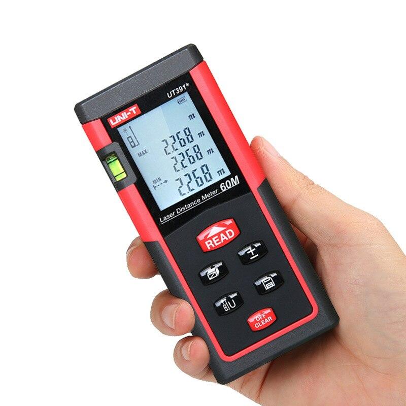 Mètre de Distance Laser de UNI-T 40m 100m télémètre numérique UT390B + UT393 + ruban Laser électronique Trena avec Test de règle de mesure de niveau