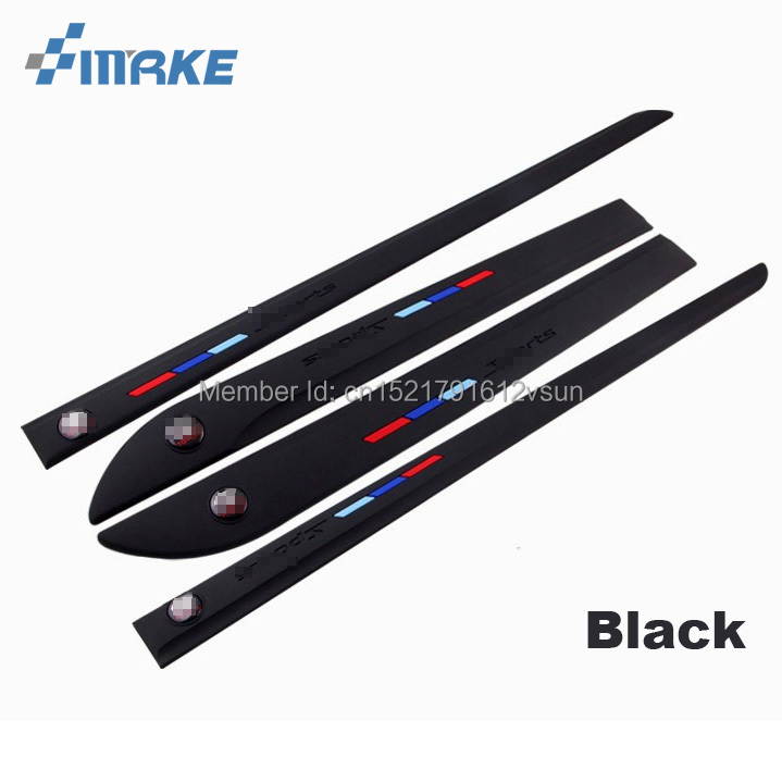 smRKE Anti rub Body Side Door Rubber Decoration Strips Protector Bumper Bars For VW Bora Golf Passat Tiguan CC Magotan Series in Styling Mouldings from Automobiles Motorcycles