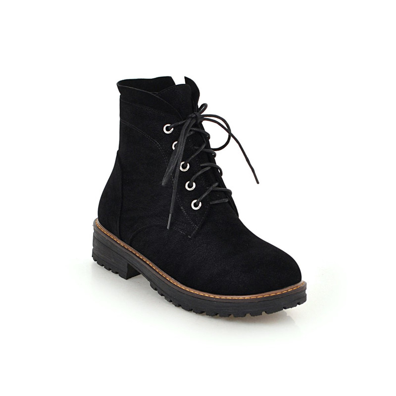 De Rétro Noir Rock Punk Chaussures Rue Combat Militaires marron Cheville  Gothique Femmes Talons Bottes Automne Liée Plus La Med Croix 2018 Taille  Ymechic ... 28f935ff0ea7