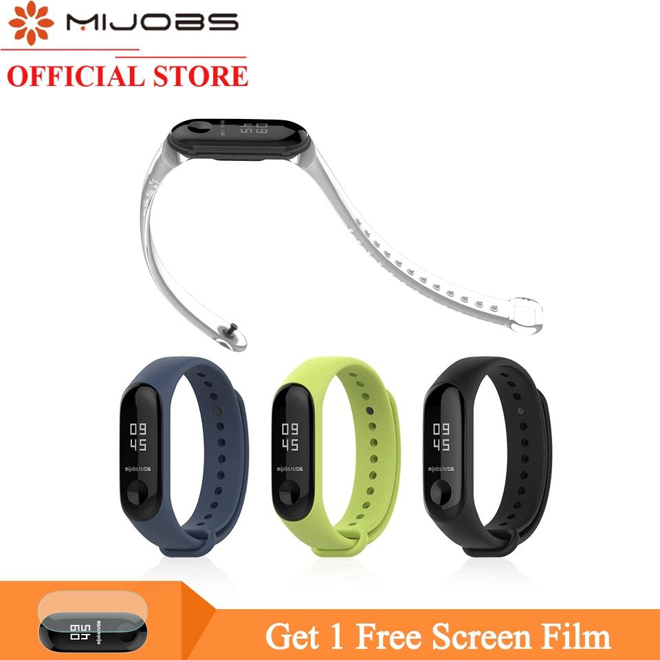 Mijobs Mi Band 4 Bracelet For Xiaomi Mi Band 4 Smart Watch Silicone Wrist Strap For Mi Band 3 Wristband Mi3 Pulseira Accessories