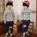 Baby letter suits spring 2016 South Korean style new children's wear children's wear children's male stripe two-piece tz - 2636