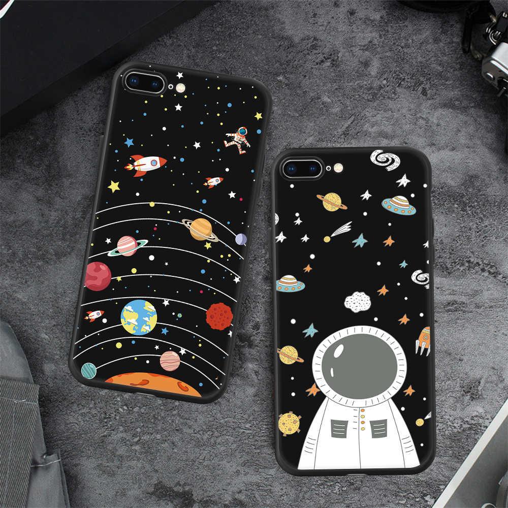 Силиконовый окрашенный Телефон чехол для iPhone 6 6s 7 8 Plus X мультфильм шаблон ТПУ защитный чехол для iPhone Xs Max Xr задняя крышка Coque