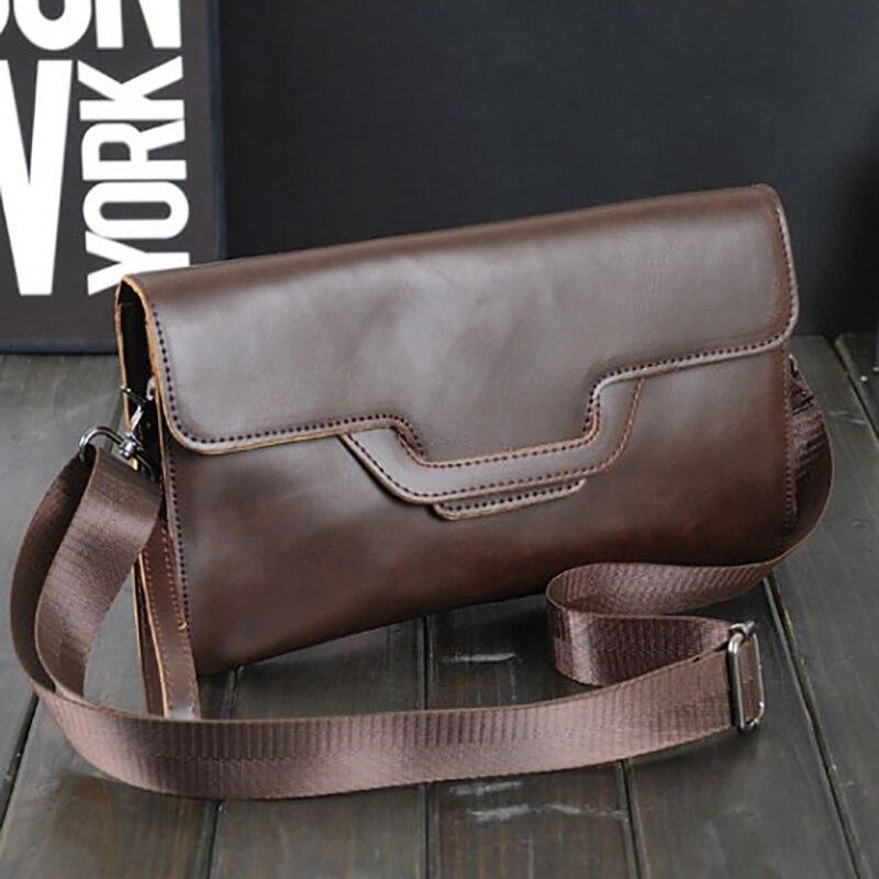 Spalla black Clutch Mini Brown Maschio Di Viaggi Messenger Sottile Leather Crazy Crossbody Affari Marca Sacchetto Uomini Bag Borsa Borse Horse 7Fq0OnwxH