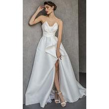Вечернее платье трапеция с v образным вырезом без бретелек