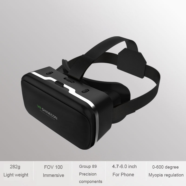 VR Shinecon 6.0 Casque Virtual Reality Glasses 3 D 3d Goggles Headset Helmet For Smartphone Smart Phone Google Cardboard Len 5