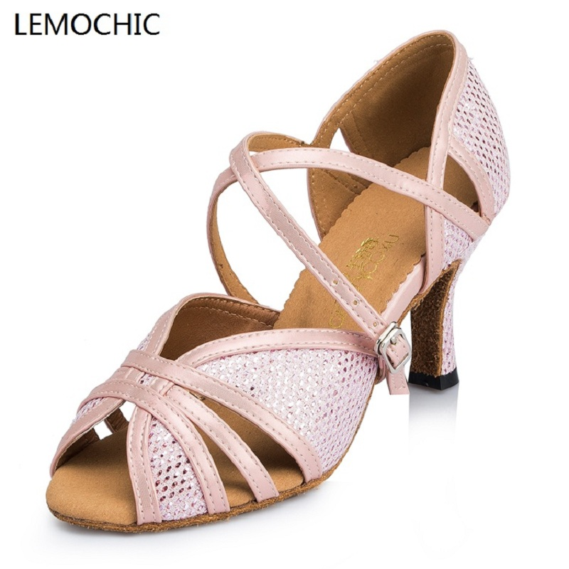 LEMOCHIC new lady and girls hot sale rumba samba latin tango cha cha pole salsa ballroom pointe professional dancing dance shoe