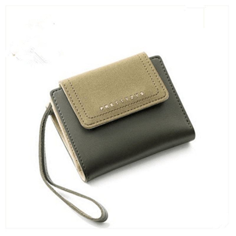 2018 New Fashion Women Wallet Short Deisgned Hit Color Women Purse Small Zipper Wallet For Women Wirstband Female Purse Bag db7191 dave bella summer baby girls newborn infant toddler jumpsuits children short sleeve printing clothing baby romper