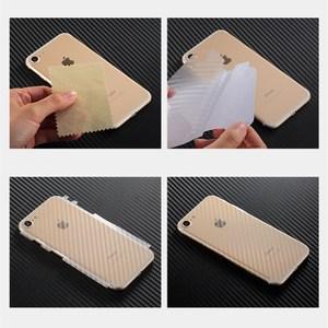Image 5 - 5 pçs iphone 6 6s 7 8 plus 5S capa completa 3d anti impressão digital de fibra de carbono volta protetor de tela filme para iphone x xr xs 11pro max
