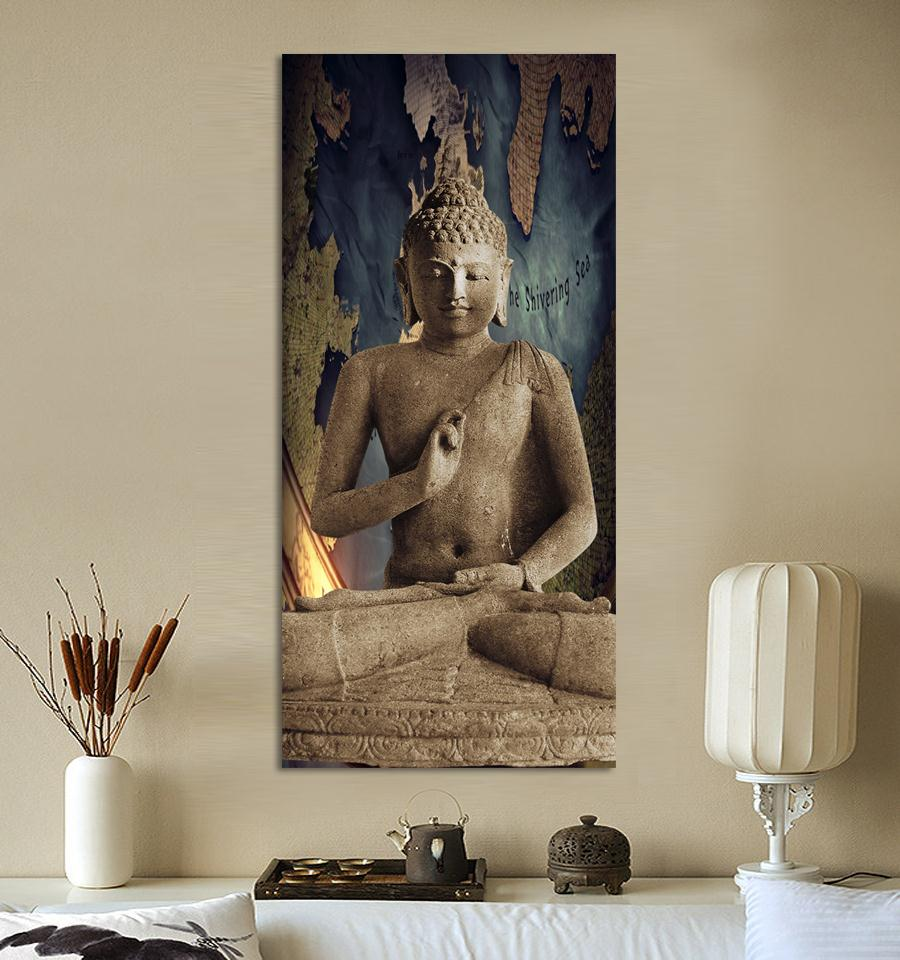 Aliexpress.com : Buy Free Shipping Buddha Art Canvas Wall Art Buddha  Picture Landscape Canvas Painting Modern Living Room Decorative From  Reliable Art Dance ...