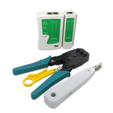 TISHRIC Professional 5-in-1 Network Cable Tester Patchpanel Cable Tracker Network Tracker+ Crimper +Krone +Stripper Wire Tracker
