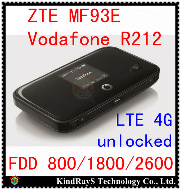 Unlocked ZTE MF93E 100Mbps 4G LTE  Pocket WiFi Router Hotspot 4g lte mifi dongle  FDD 800 Vodafone R212 PK E5776 mf90 mf910