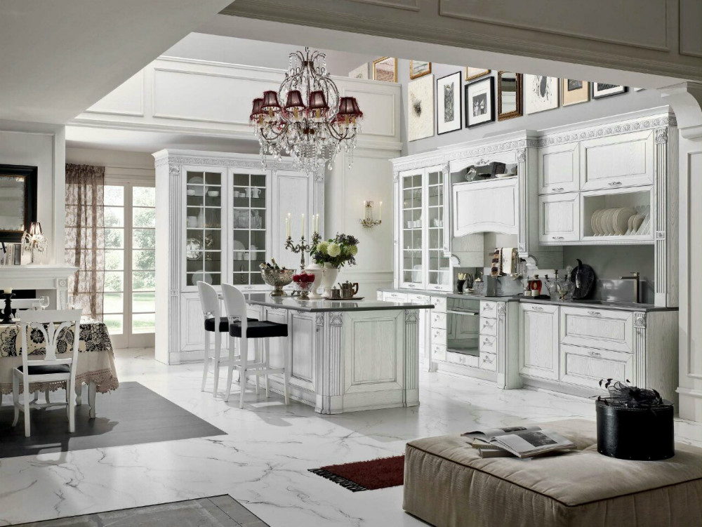 Classic country style kitchen cabinet popular in Russiain