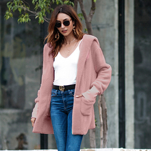 Womens wear 2018 autumn and winter new European American high-end sweater coat long