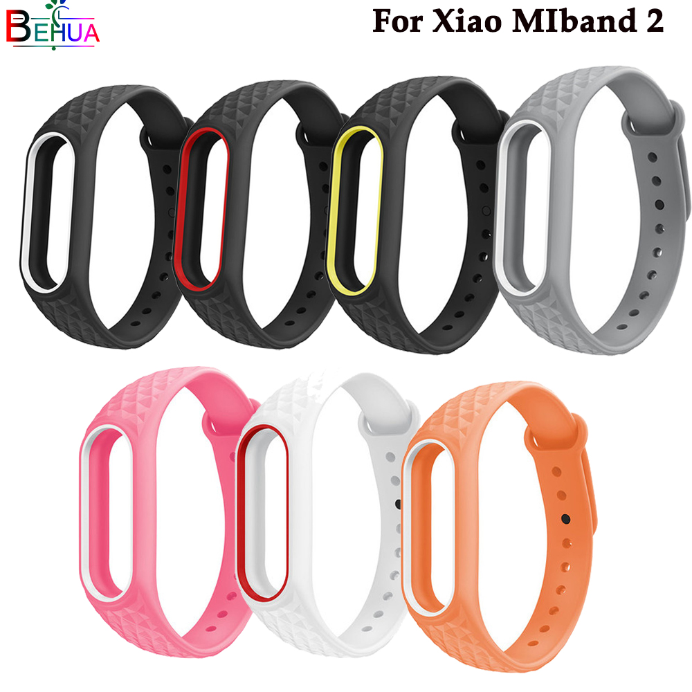 Sport Band For Xiaomi MiBand 2 Strap Replacement Silicone Wathc Band Wristband For Xiaomi 2/Pedometer Bracelet Strap Accessories