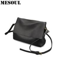 Soft Genuine Leather Shoulder Bags For Women 2017 Leisure Bag Cowhide Crossbody Bags Ladies Messenger Bag Designer Purse Satchel
