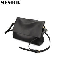 Soft Genuine Leather Shoulder Bags For Women 2017 Leisure Bag Cowhide Crossbody Bags Ladies Messenger Bag