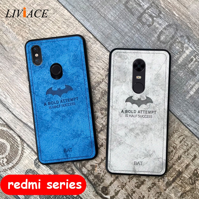deer cloth phone case on for xiaomi redmi note 7 5 5a prime 4 4x 6a 6 pro 5 plus s2 y2 k20 global leather tpu back cover coque