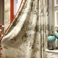 Euro Luxury Chenille Jacquard Cortinas Kitchen Curtain Half Blackout Curtains Living Room American Window Papelaria 1