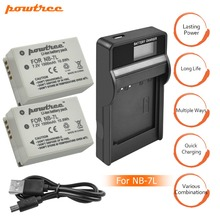 цена на 2Packs NB-7L NB7L NB 7L Li-ion Battery 7.2V 1500mAh+Charger with LED For Canon PowerShot G10 G11 G12 SX30 E1011C SX30IS AKKU L10
