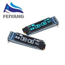 "1pcs 0.91 pollici OLED modulo 0.91 ""bianco/blu OLED 128X32 OLED Display LCD A LED del Modulo 0.91 ""IIC di Comunicare per ardunio"