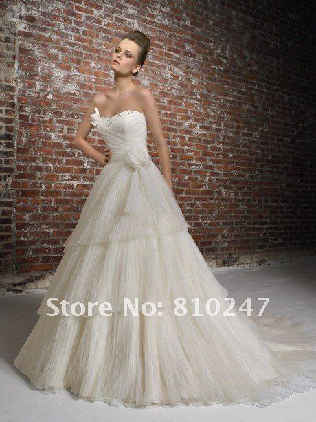 Romantic crepe strapless bridal boutique fashion